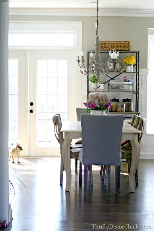 Thrifty Decor Chick: Updated Kitchen Pics May 2015. 11/2015 -- a new light above table from Lowes.   http://www.lowes.com/pd_616012-2120-34691_0__