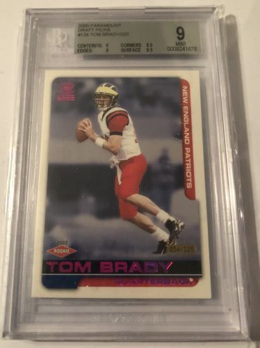 2000 Tom Brady Pacific Paramount Draft Picks Parallel Rookie RC /325 BGS 9 Mint