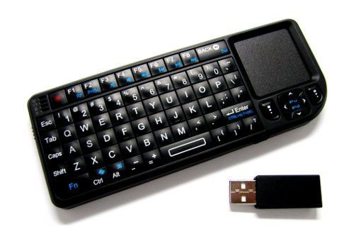 The wireless mini keyboard measures about 151mm x 59mm x 13mm, weighs 98g, and features a mini keyboard with 69 keys and a real notebook touchpad. Apart from th