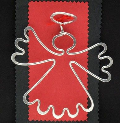 Angel Ornament  made from armiture wire which has been flattened.