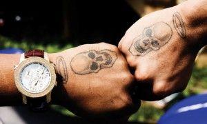 Chris Brown Tattoos hands