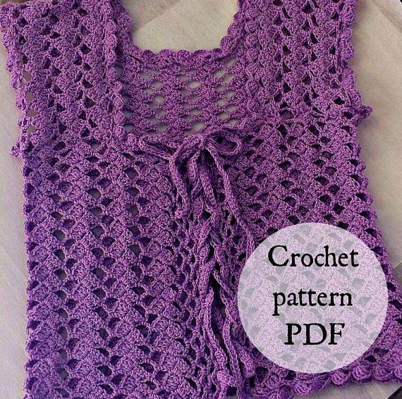 Crochet Bolero purple PATTERN only with written instruction