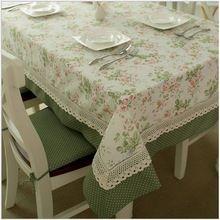 1pc/lot fransız tarzı yemek masası bez kahve masa örtüsü çiçek ve noktalar( 4 boyutu 140cm/180cm/200cm/220cm*140cm)- th-8006(China (Mainland))