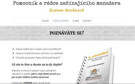 Zuzana Nováková a její ebook ZDARMA: 4 zásadní chyby začínajících manažerů
