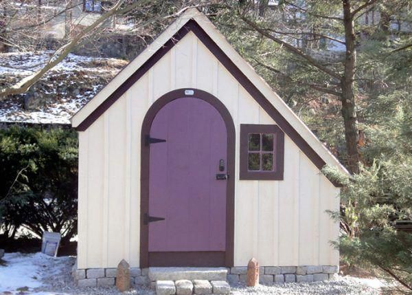 6x10 Hardware Shed Customized With A Purple Painted Door White Painted Exterior And Dark Violet Trim Plasticgar With Images Shed Plans Sheds For Sale Storage Shed Kits