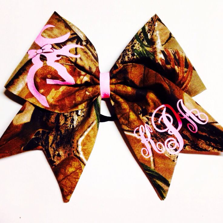 Country Girl Monogrammed Camo Fabric Cheer Bow by KallysBOWtique on Etsy