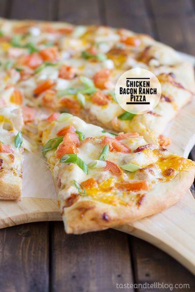 Chicken Bacon Ranch Pizza Recipe - sounds delicious!!