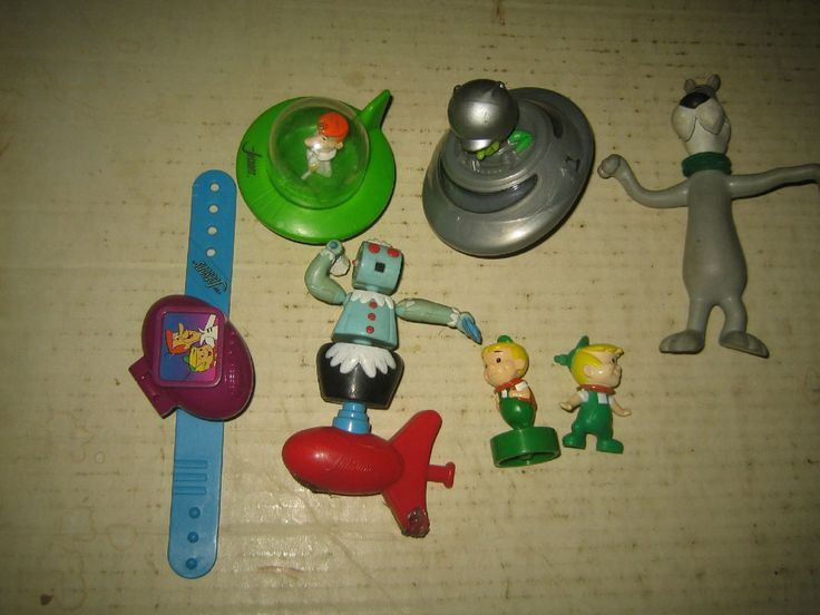 """7 RARE HTF HANNA-BARBERA THE JETSONS COLLECTABLE FIGURE'S LOT  """"SOLD AS IS""""  