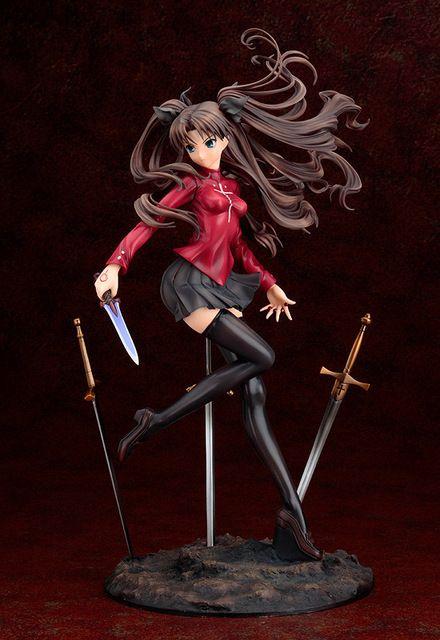 Anime Fate / stay Night Tohsaka Rin ilimitado hoja obras acción Pvc figura de colección de juguetes 25 cm Fnfg028