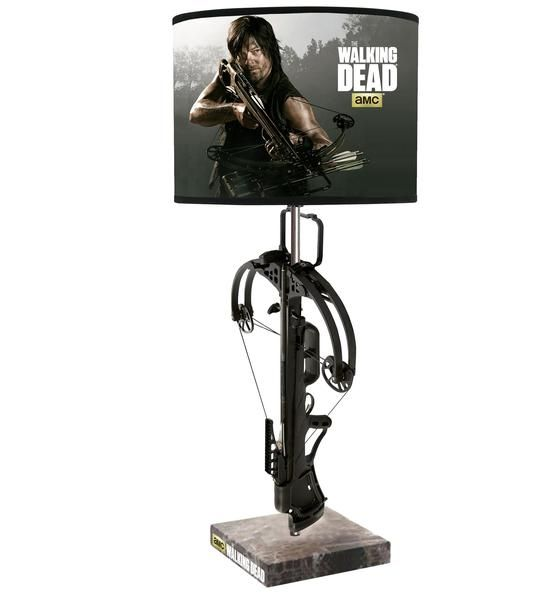 """Officially licensed from the AMC series The Walking Dead Daryl Dixon Crossbow replica Uses Max. 60W bulb (not included) UL & cUL listed. 23.5"""" tall x 10.5"""""""