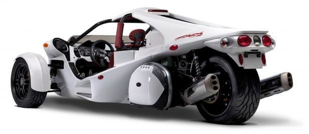 Campagna Motors' new T-REX 16S reverse trike rear angle view