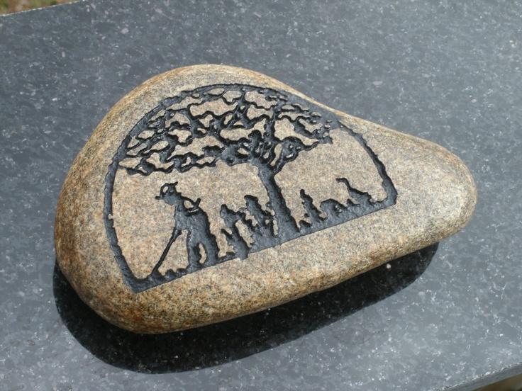 Tree of life garden luck stone carved rock walkway