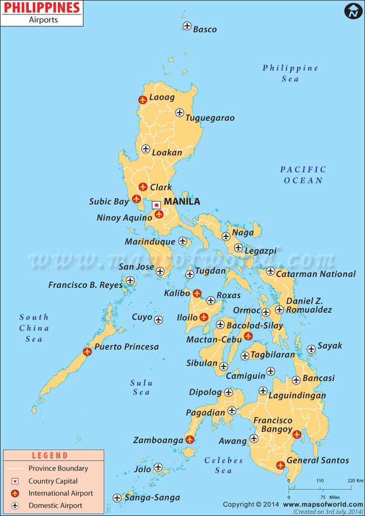 Airport Map of Philippines