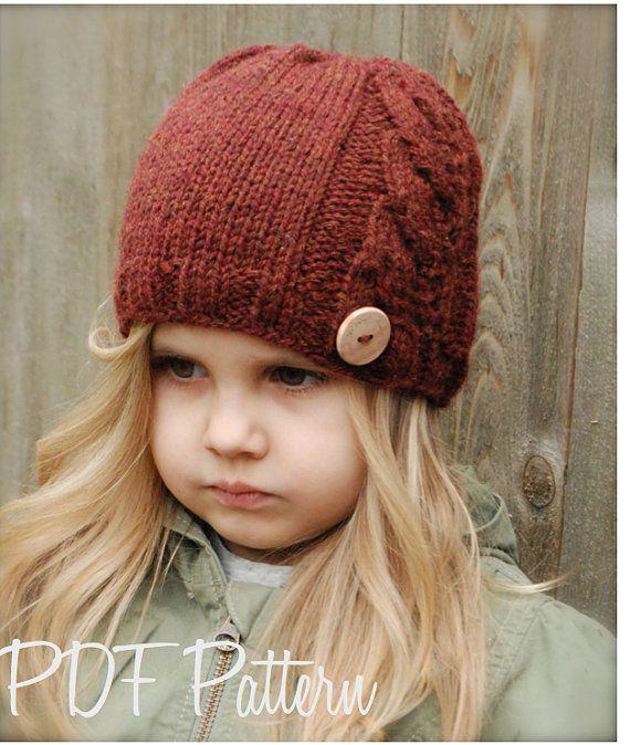 Knitting PATTERNThe Vivian Slouchy Toddler Child por Thevelvetacorn