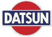 Het oude logo van Datsun nu Nissan, weet nog dat we een witte Datsun Cherry hadden