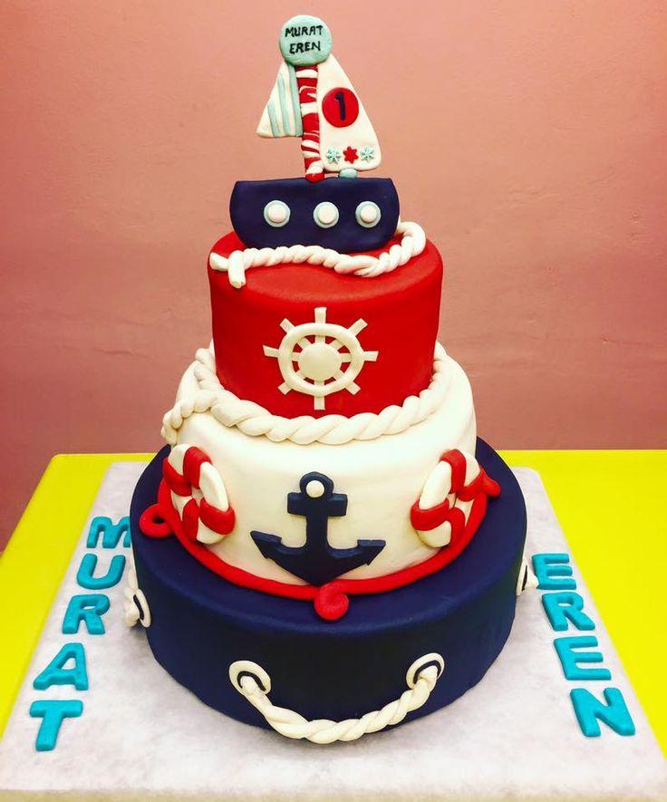 Denizci Temalı Erkek Çocuk Doğum Günü Pastası - Melek Anne Pastası