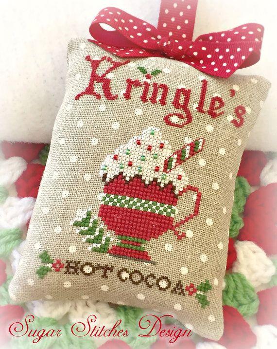 Chocolate Navidad de Kringle punto de Cruz PDF Digital patrón