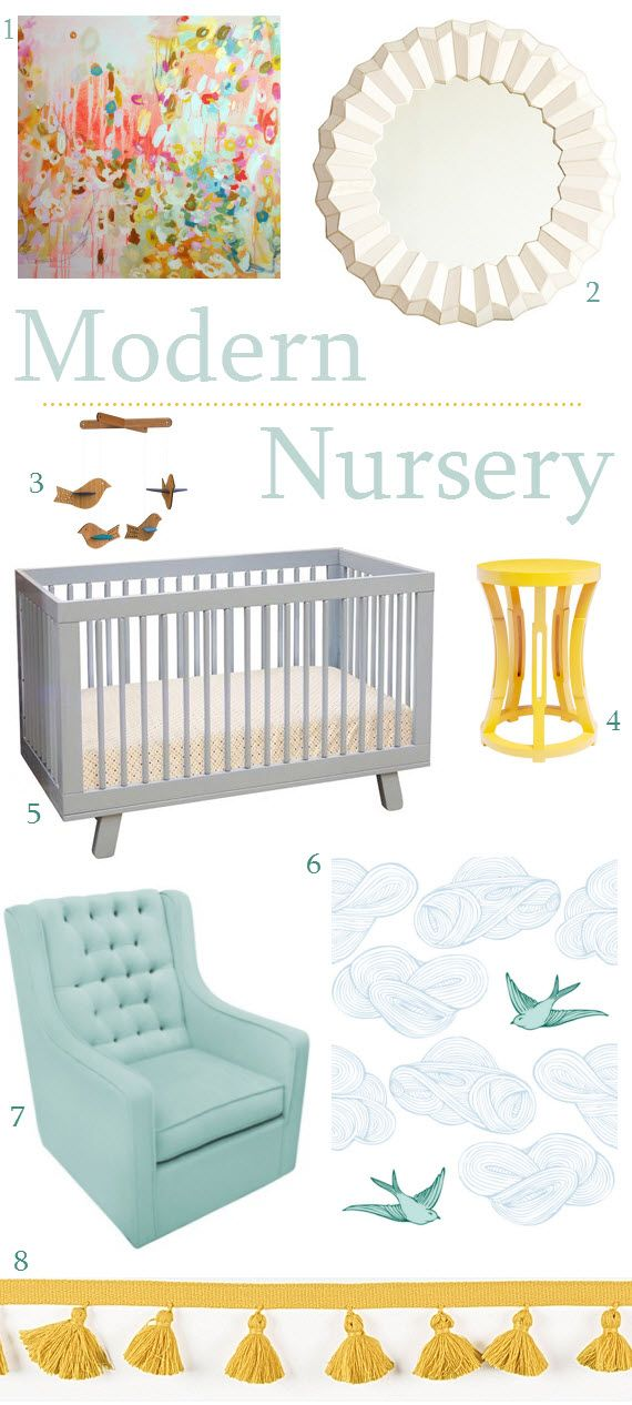 Modern, gender neutral nursery design #nursery #nurserydesign #neutraldesign #neutralnursery