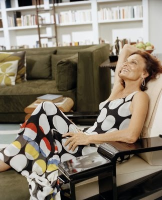 """Diane von Furstenberg: """"The biggest mistake a woman can make is not to be herself in public or in private."""""""
