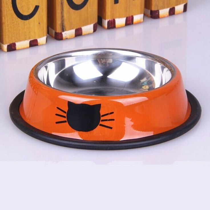 Cat Face Stainless Steel Pet Bowls High-End Colorful Round Voerbak Cat Bowl Dog Water Food Feeder