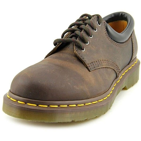 Dr. Martens Air Wair Dr. Martens Air Wair 8053 Men Round Toe Leather... ($92) ❤ liked on Polyvore featuring men's fashion, men's shoes, men's oxfords, brown, shoes, mens brown shoes, mens oxford shoes, mens leather oxford shoes, mens brown oxford shoes and mens leather shoes