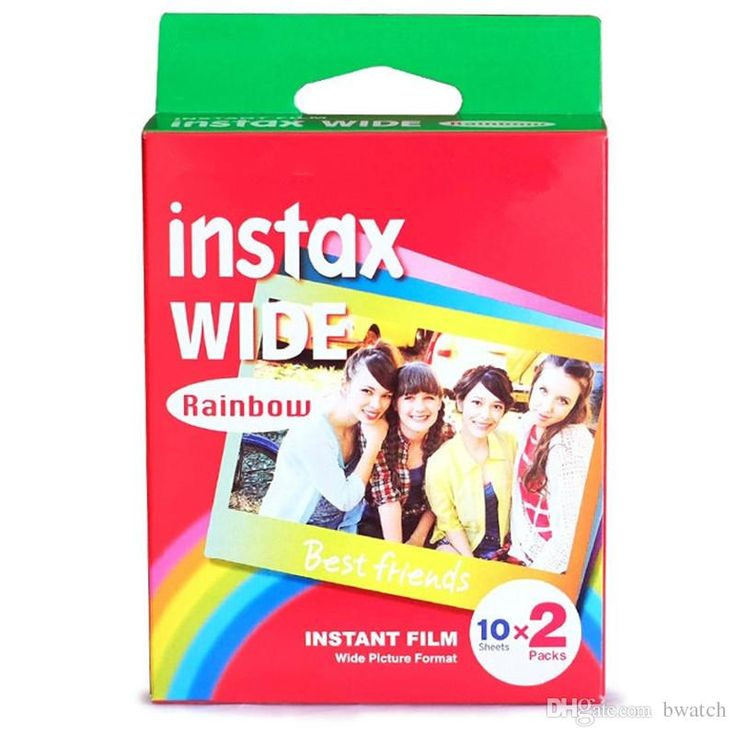2017 Instant Photos Rainbow Instax Wide Film Polaroid Camera Wide Camera Special Film Paper Film Photography Color Instax Wide From Bwatch, $39.15   Dhgate.Com