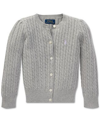 0103c6498cd7 Polo Ralph Lauren Little Girls Cable-Knit Cardigan Kids - Sweaters ...