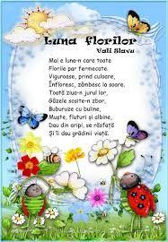 Image result for luna florilor poezie vali slavu
