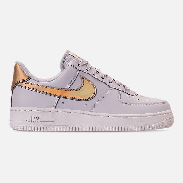 a2d55f967 Right view of Women s Nike Air Force 1  07 Metallic Casual Shoes in Vast  Grey Metallic Gold Summit White