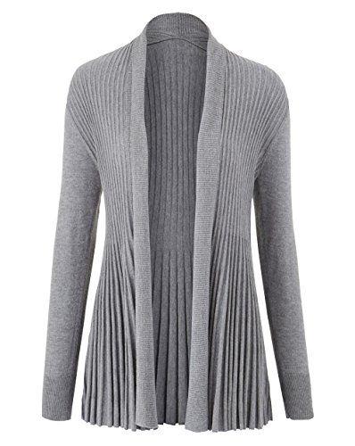 Swing Cardigan Grey 810Women's In Knitwear Fan Marl Back Womens 3l1cFKJT