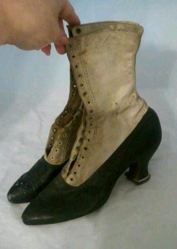 1890's! hmm...I wonder if I could turn a regular pair of heals into something like this by adding leather spats over them