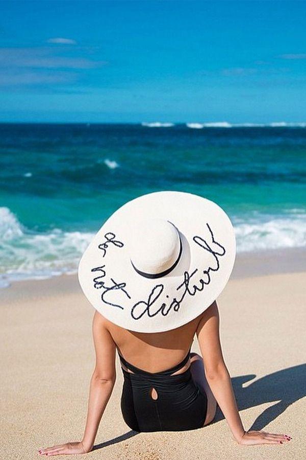Looking back at Lazy Summer Beach days #EugeniaKim #DoNotDisturbHat, available #FenwickBondStreet