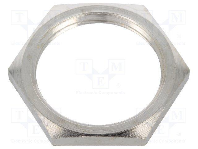 BM GROUP 2725 | Écrou; M25; laiton; nickel; 30mm; Filetage: mètrique; Saut:1,5 - Produit disponible chez Transfer Multisort Elektronik. Vérifiez notre large offre.