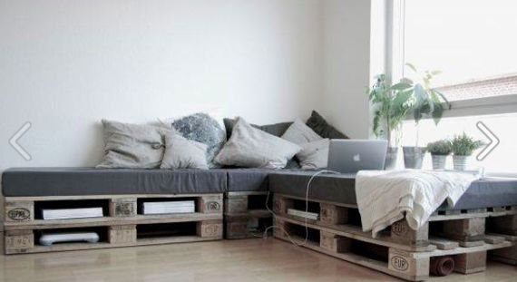 so simple to make a couch made from pallets and covered foam