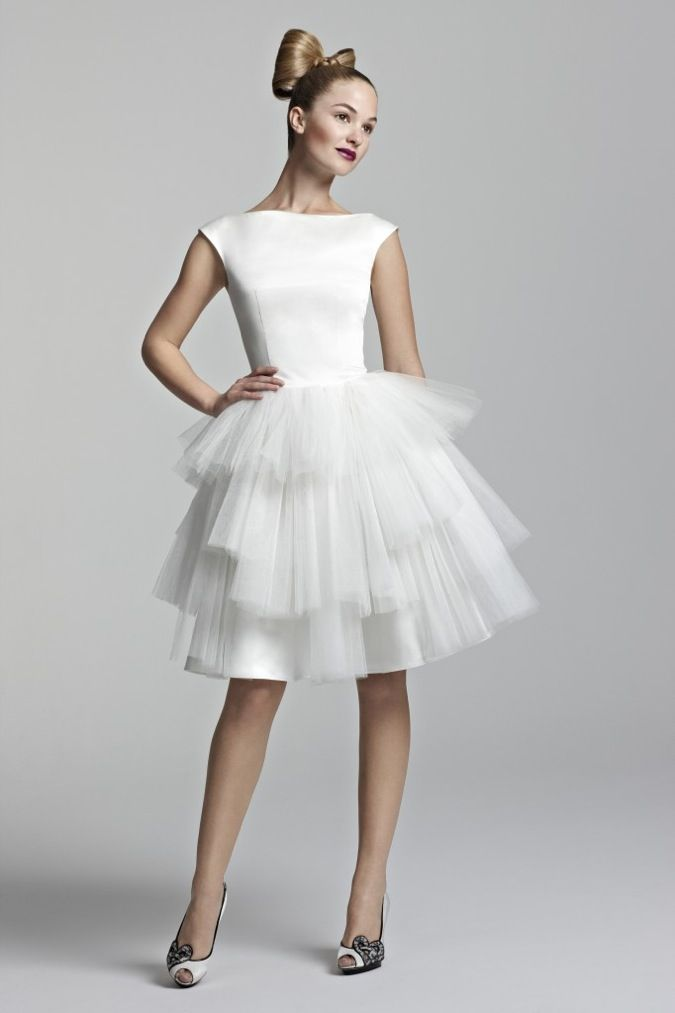 Short Wedding Dress Amaze 2012 bridal gowns | OneWed.com