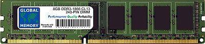 8GB (1 x 8GB) DDR3 1866MHz PC3-14900 240-PIN DIMM MEMORY RAM FOR DESKTOPS/PCs