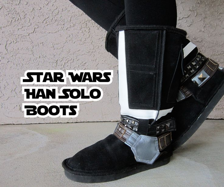 Make a pair of Han Solo Boots! Don't let them fool you, they were made with a lot of simple tricks and nonsense...