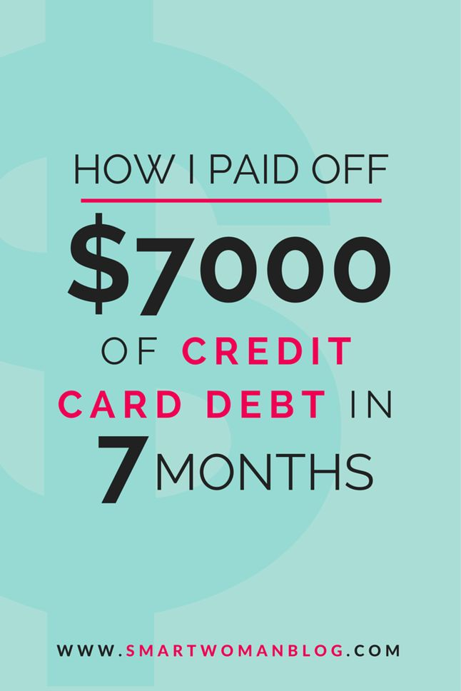How I paid off $7000 of credit card debt in just 7 months to become debt free. Pay off your debt fast with the tips in this article.