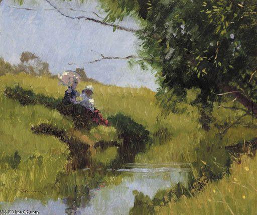 Stream Meadow de Elioth Gruner (1882-1939, New Zealand)