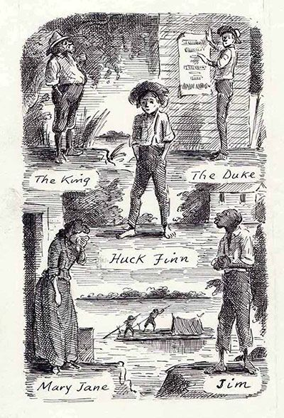 a paper on the huckleberry finn by mark twain Triptych because they effectively document the river that flowed through  3  see jonathan raban's book mark twain: huckleberry finn for an example of the .