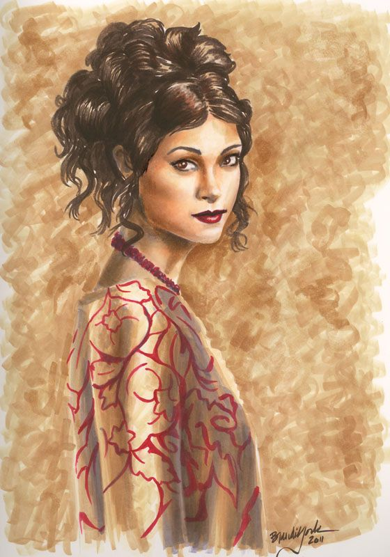"The Companion - 9x12"" Copic Marker (Inara of Firefly) - Originally done as a tutorial for Copic Marker"