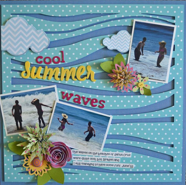 What better way to reminisce about your beach vacation than by embellishing your summer scrapbook with a fun wave layout? Get your tropical tutorial from GCD Studios here.