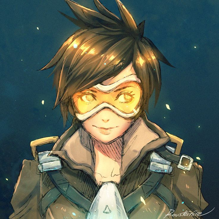 Tracer by Rousteinire.deviantart.com on @DeviantArt - More at https://pinterest.com/supergirlsart/ #overwatch #cute #fanart