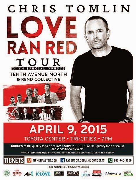 Chris Tomlin - Love Ran Red Tour Toyota Center In Kennewick, WA