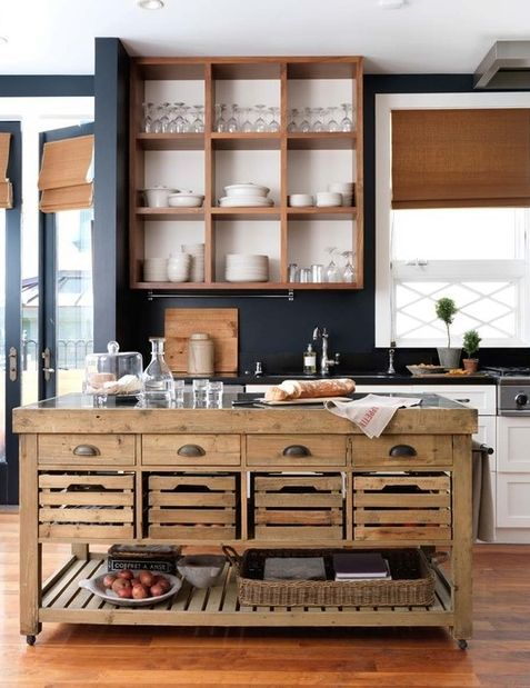 Wow! Love the kitchen island and the shelving