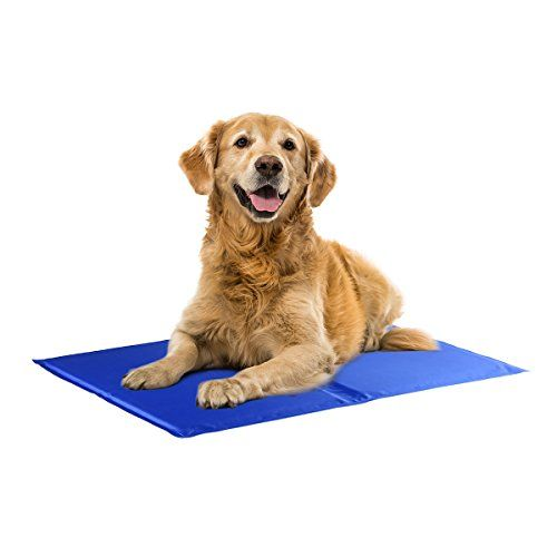 Dog Bed Covers - isYoung Premium Pet Cold Gel Pad Cooling Pad for Dogs and Cats Perfect Size Pet Cooling Mat  Blue >>> You can find more details by visiting the image link. (This is an Amazon affiliate link)