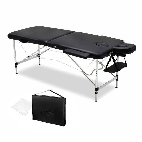 75cm Professional Aluminium Portable Massage Table - Black – Click Online Sales