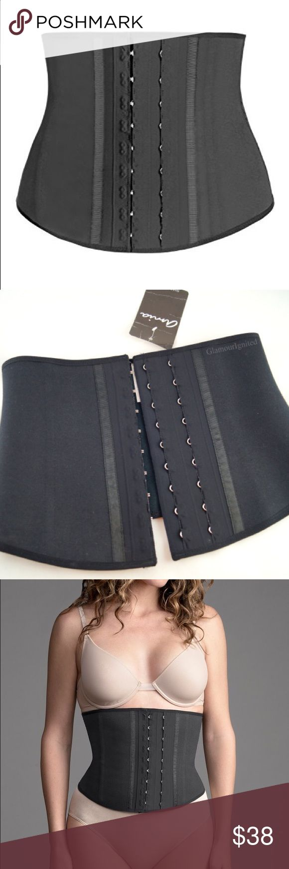 Brand new waist trainer that Kim Kardashian uses Active band waist trainer corset sculpts 2-3 inches from your waistline while boosting the intensity of physical activity (yes, you can wear it to the gym). It helps you sweat harder around your midsection with a durable latex core for firm, comfortable support. You can also wear it underneath clothing! Hook and eye closures, flexi-bonding, cotton lining. This is the one that the Kardashians rave about! amia Intimates & Sleepwear Shapewear