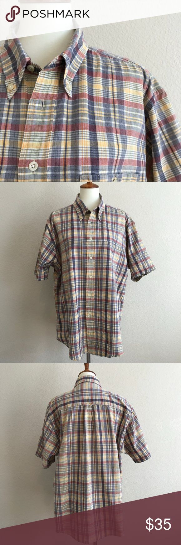 Pendleton Shirt Vintage look Pendleton shirt with front button. Extra buttons attached. Excellent preowned condition.  Sleeves are 10 inches. PTP is 25 inches. Length is 32 inches. Pendleton Shirts Casual Button Down Shirts