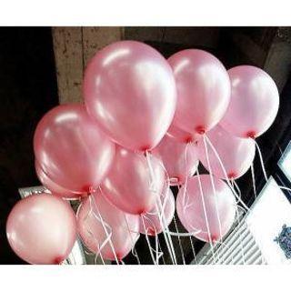 25 ADET METALİK SEDEFLİ PEMBE BALON Doğum Günü Uçan Ucuz